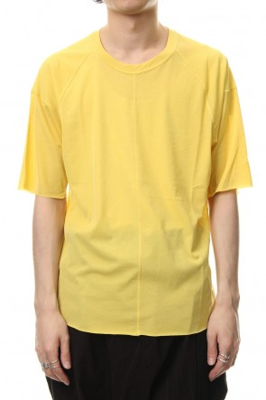 The Viridi-anne 19SS Strong textured T-shirt Yellow