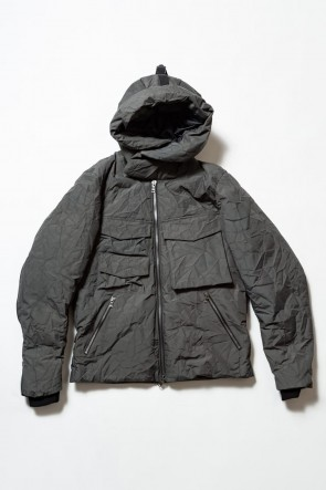 The Viridi-anne 19-20AW 3layer Wrinkled Down Jacket