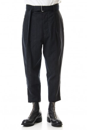 The Viridi-anne 19-20AW Random Stripe Tapered Pants