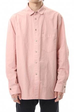 The Viridi-anne 19-20AW Cotton Linen Plane Shirt - G.Pink