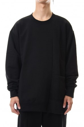 The Viridi-anne 19-20AW Fleece Lining Combination Pullover - Black