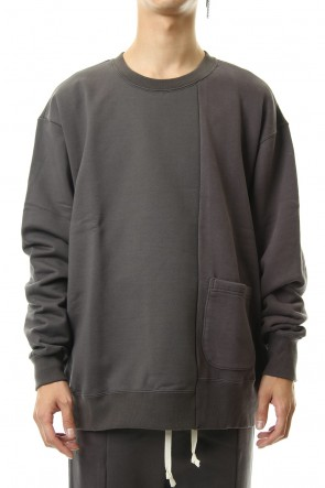 The Viridi-anne 19-20AW Fleece Lining Combination Pullover - Gray