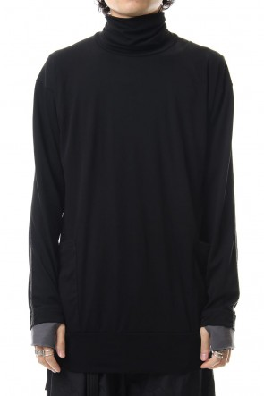 The Viridi-anne 19-20AW Smooth Turtleneck Long Sleeve T-shirts