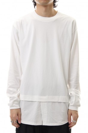 The Viridi-anne 19-20AW Jersey stitch Long sleeve T - White