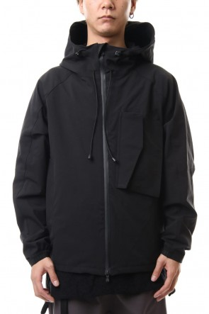 The Viridi-anne 20SS Water-repellent Stretch Mountain parka Black
