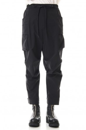 The Viridi-anne20SSWater-repellent Stretch Gather Tactical pants Black