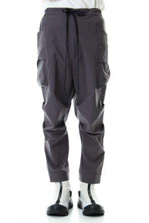 The Viridi-anne20SSWater-repellent Stretch Gather Tactical pants Gray