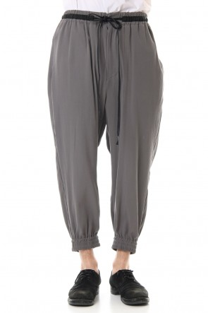The Viridi-anne 20SS Hard twist Double weave Cuff pants Gray