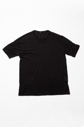 The Viridi-anne 20SS Cotton cashmere Back body Line Tee Black