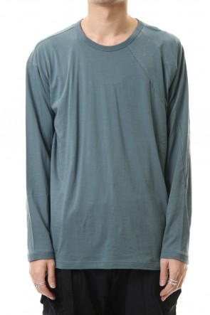The Viridi-anne 20SS Cotton cashmere Long sleeve T-shirt Turquoise