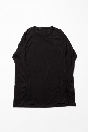 The Viridi-anne 20SS Cotton cashmere Long sleeve T-shirt Black