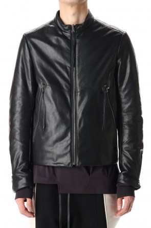 The Viridi-anne 20-21AW Lamb leather Batting Biker jacket