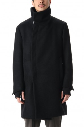 The Viridi-anne 20-21AW Melton High-Neck Coat