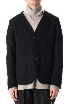 The Viridi-anne 20-21AW Soft Compression Wool Reversible Jacket Black