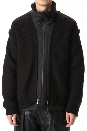 The Viridi-anne 20-21AW Layered cardigan Black