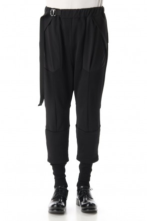 The Viridi-anne20-21AWCotton Nylon Fluffy Lining Tactical Pants -Black