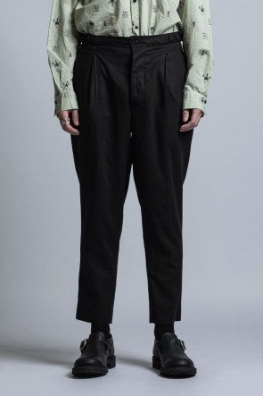 The Viridi-anne 21SS Strong-Twist Cotton Tapered Pants