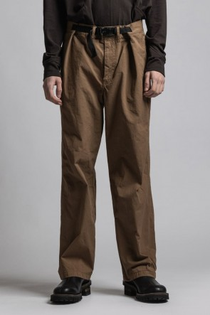 The Viridi-anne21-22AWCORDURA'NYCO' Wide Pants Brown Duck