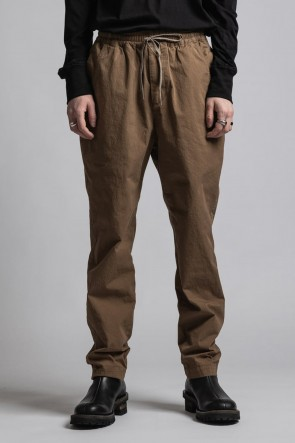 The Viridi-anne21-22AWCORDURA'NYCO' Tapered pants Brown Duck