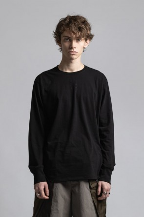 The Viridi-anne21-22AW40/- Jersey Stitch Embroidered Long Sleeve T-shirt Black