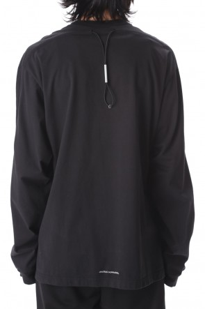 VEIN 20-21AW Sueded Co jersey Vessel L/S tee Black