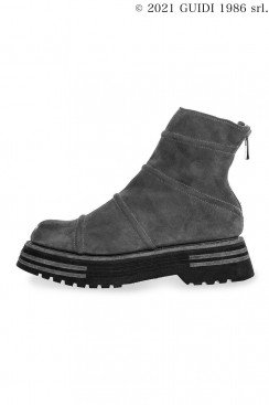 Guidi Classic 522 - Back Zip Ankle Boot With Padded Inserts