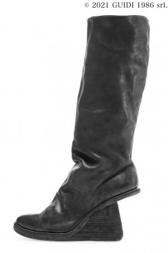 Guidi Classic 6010 - Knee-High Boot With Asymmetrical Heel