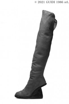 Guidi Classic 6013 - Over-The-Knee Boot With Asymmetrical Heel