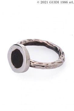 Guidi Classic G-AN03 - Round Leather Motif Ring