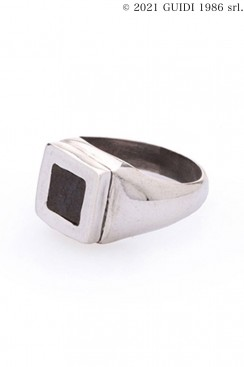 Guidi Classic G-AN09 - Square Leather Motif College Ring