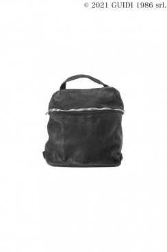 Guidi Classic SA03 - Front Zip Leather Backpack