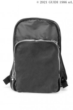 Guidi Classic SP05 - Nylon and Leather Expandable Backpack