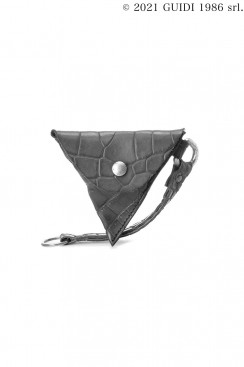 Guidi Classic W8 - Leather Coin Purse with Key Ring