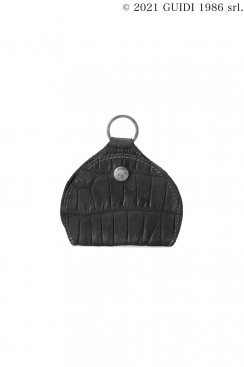 Guidi Classic W9 - Leather Coin Purse with Key Ring