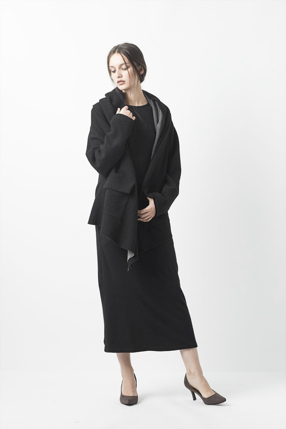 Dual-layered Cardigan Coat - AL-1272