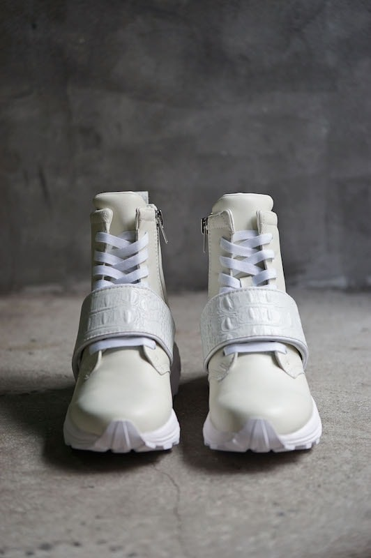 """DIET BUTCHER SLIM SKIN [DBSS] 16SS Sneakers Boots """"STOMP"""" WHITE"""