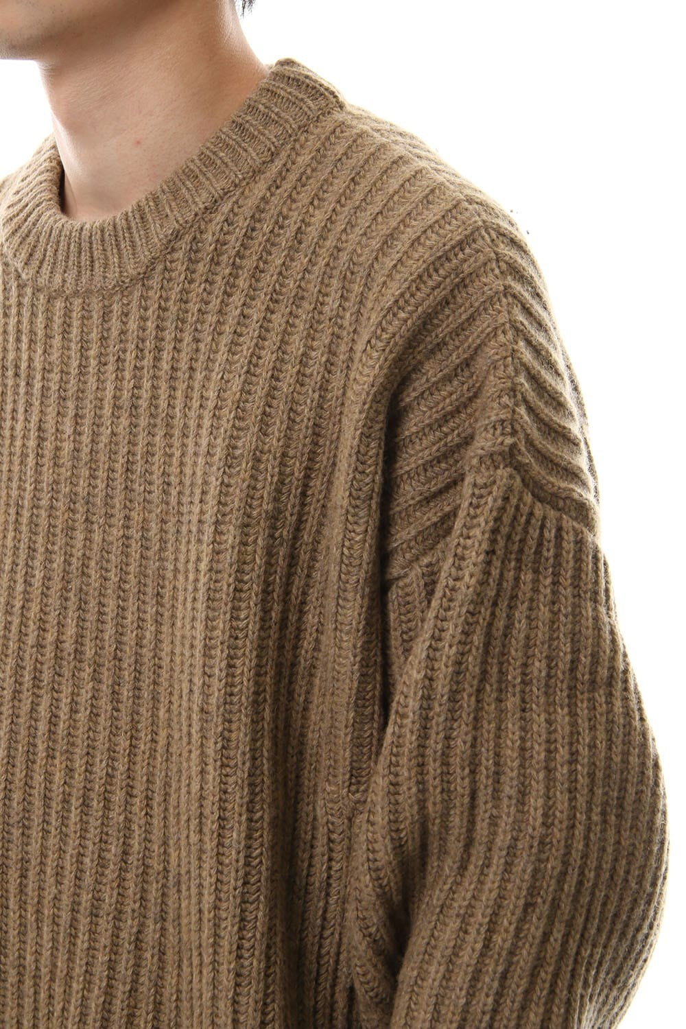 ZIP KNIT TOPS Beige