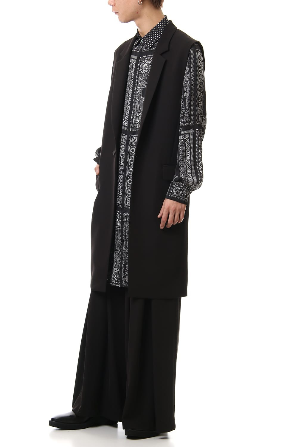 Dry Georgette Stretch Long Vest