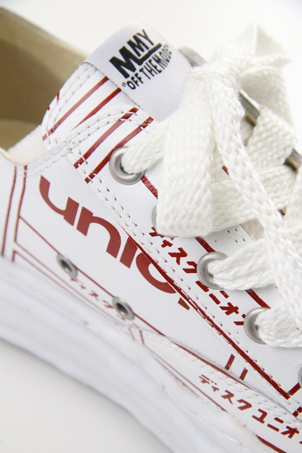 Original sole Disk union printed loucut sneaker White