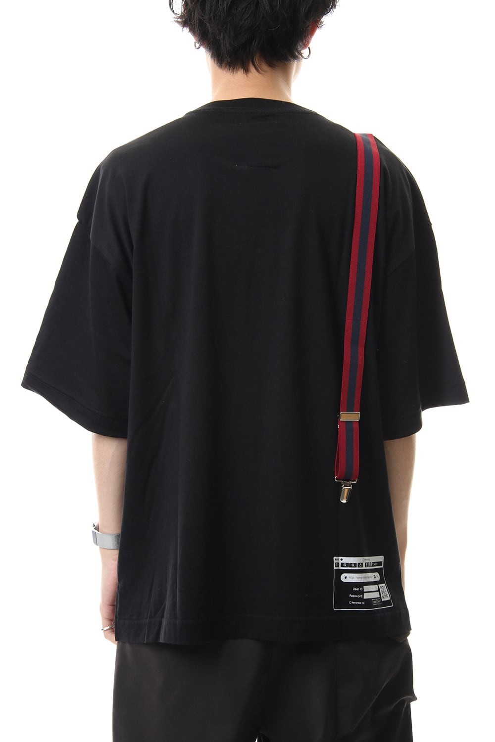 Suspender t-shirt Black