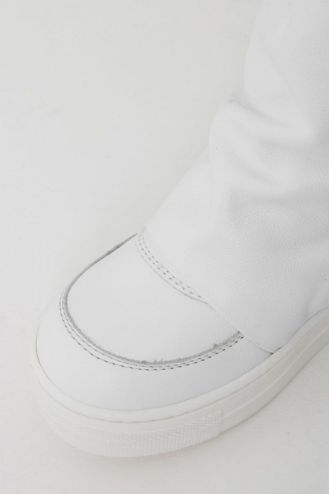 """16AW ARAIA KIDS """"JOY COLORS"""" NERO Layered Side Zip Sneakers WHITE SIZE 30 (4〜5 Years old)"""