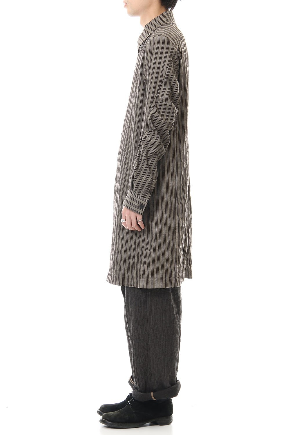 Coat Cotton ramie stripe