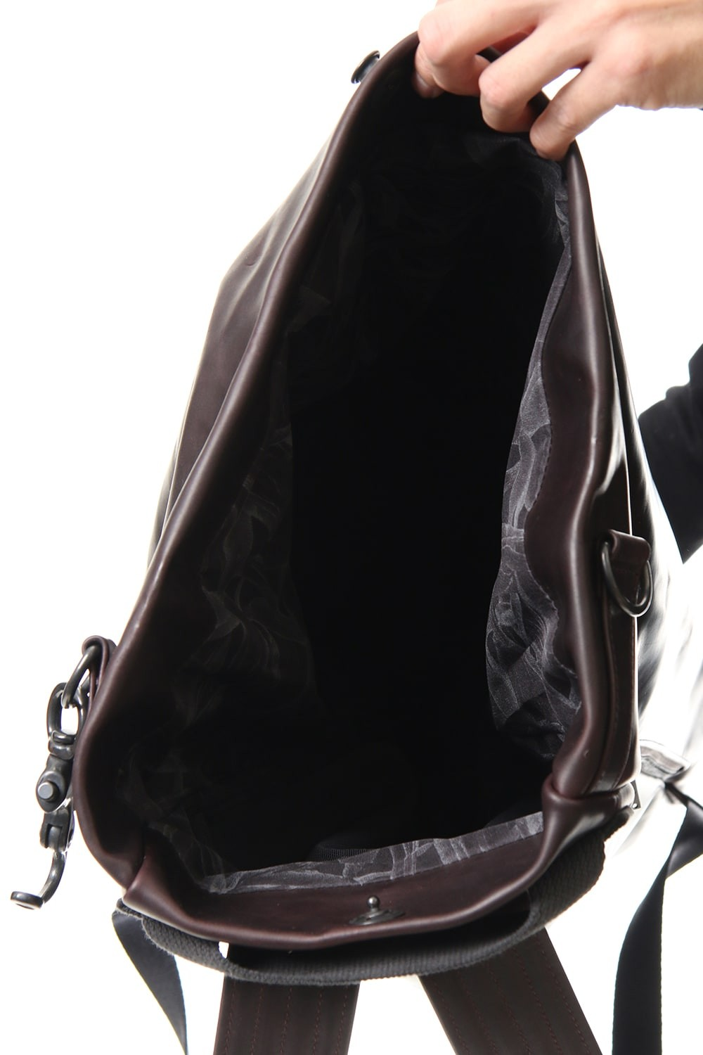 Backpack Guidi Calf Leather - Deep Red