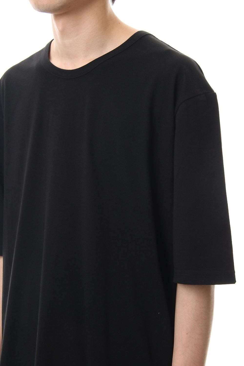 A Tied Short Sleev Cut Sew Black