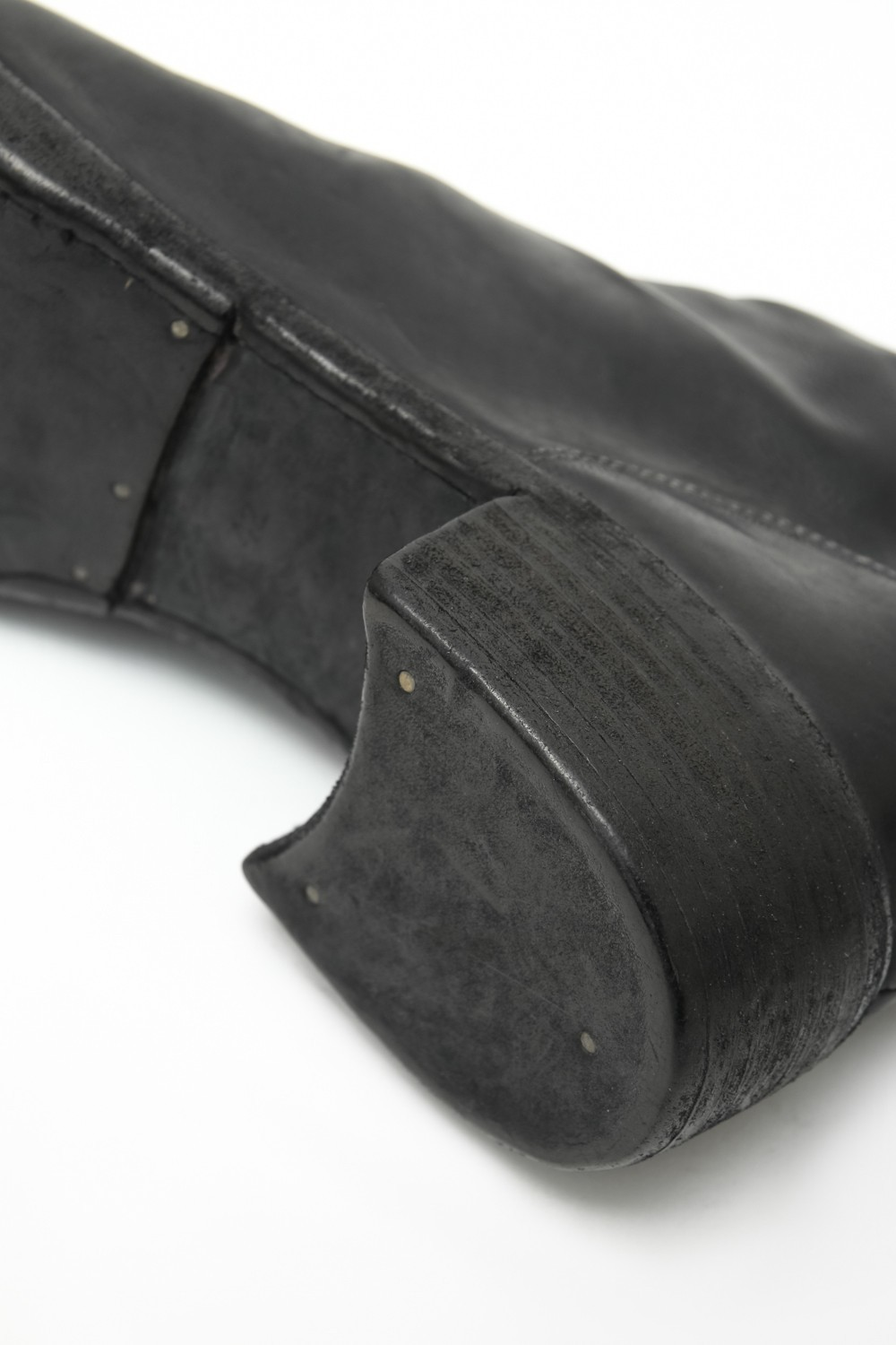 Back Zip Boots Double Sole - Soft Carf Full Grain Leather