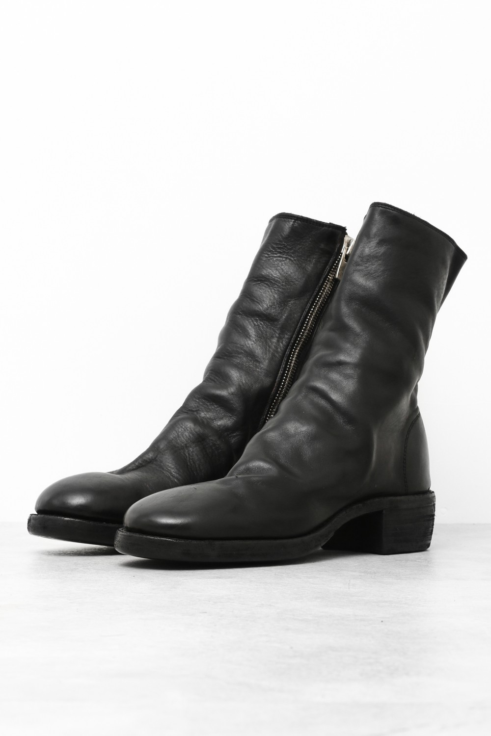 Side Zip Boots Double Sole - Horse Full Grain Leather