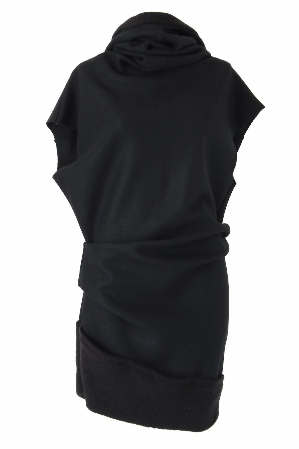 Hooded Melton One-piece Dress - ag-1008