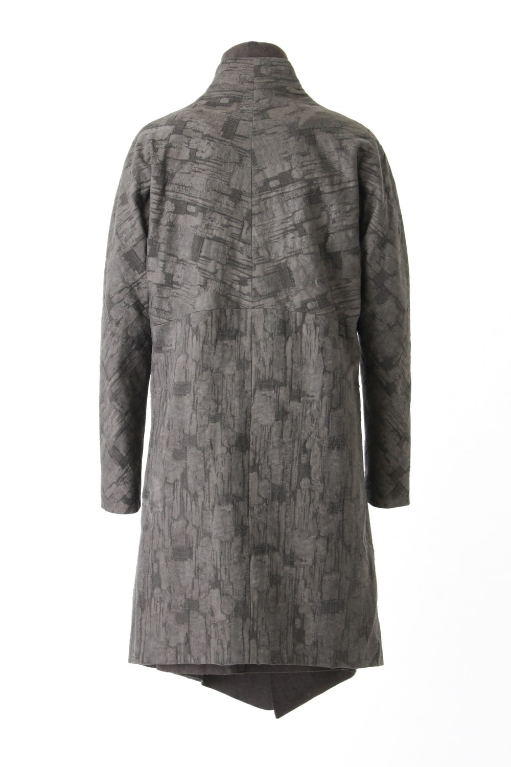 Layered Coat Jacquard Sumi Dyed