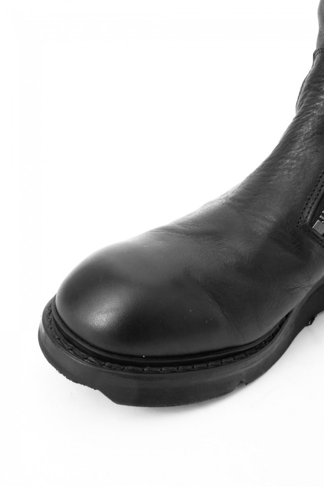 17SS Double Side Zip Engineer Boots SMOOTH