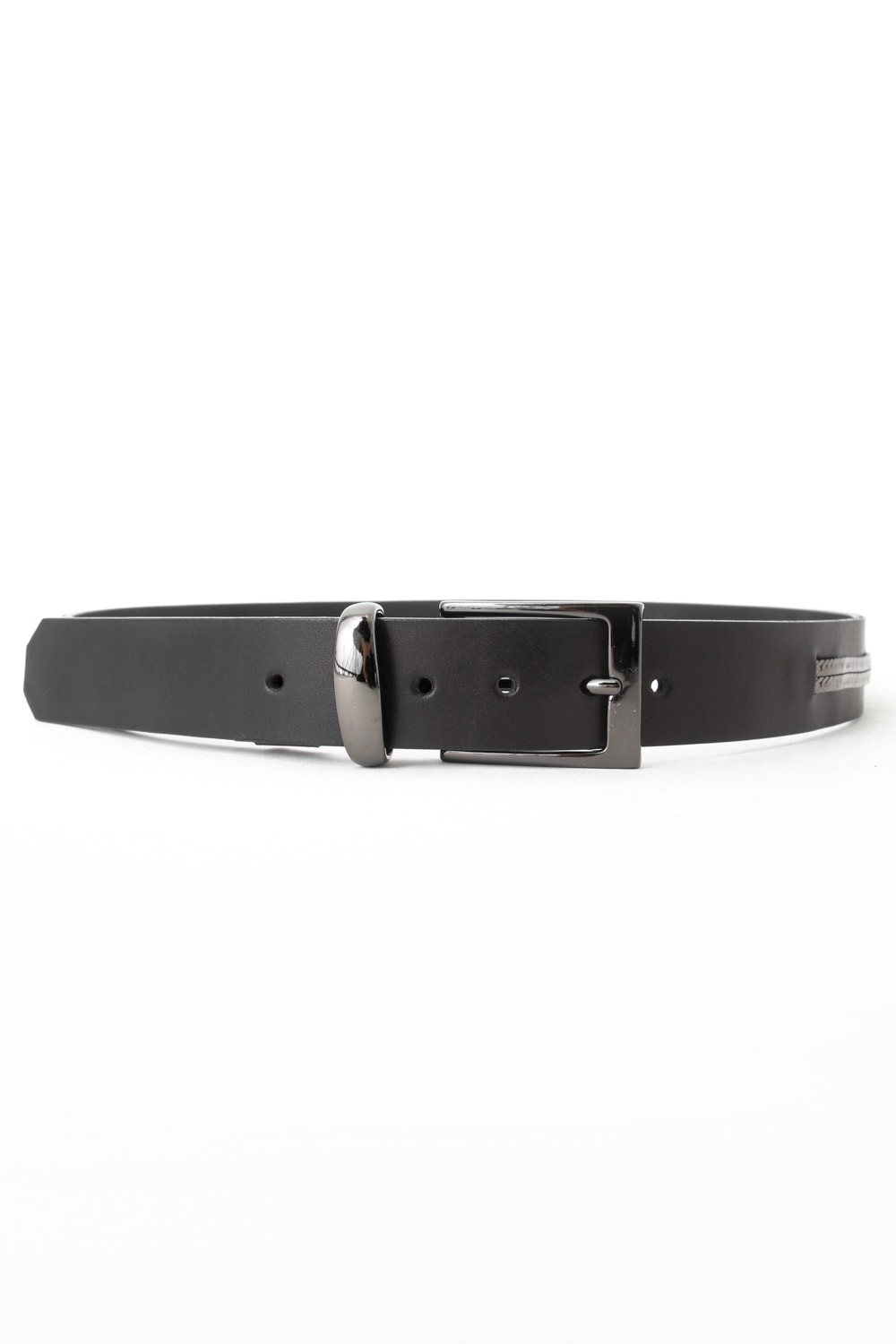 17SS Oil Cow + Chain Belt BLACKxGUNMETAL